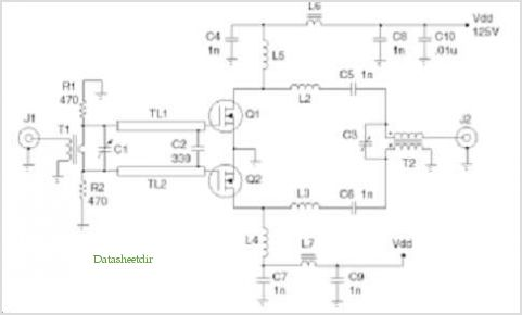 Push Pull Amplifier Circuit Diagram | Application Notes And Circuits For A Push Pull 300 Watt Amplifier