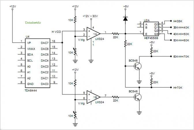 87c751 Bus-controlled Monitor application circuits