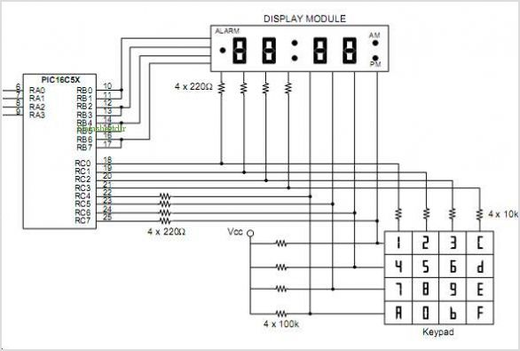 application notes and circuits for Multiplexing Led Drive And 4x4