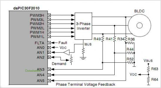 application notes and circuits for Sensorless Bldc Motor Control