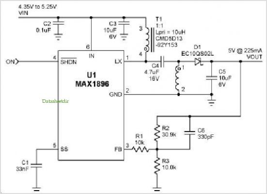 Usb-powered Dsl Modem Supply application circuits