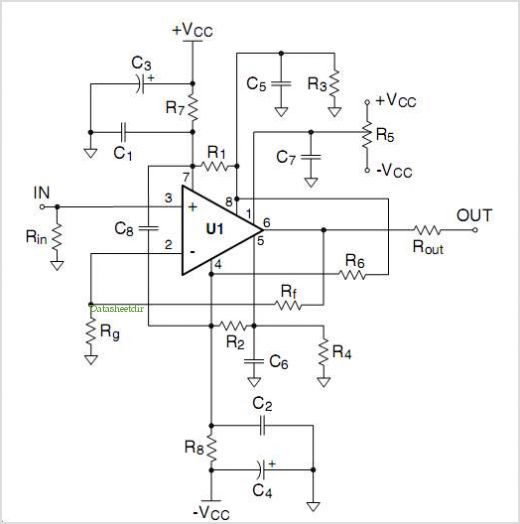 8-pin Op Amp Evaluation Boards application circuits