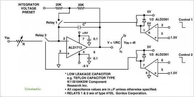 Ultra Long Time Constant Integrator application circuits