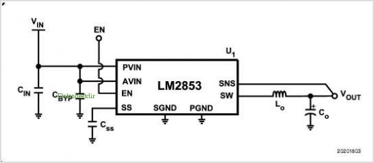 Lm2853 Evaluation Board application circuits