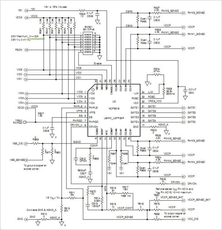 Ncp5318 Four Phase Demonstration Board Note application circuits