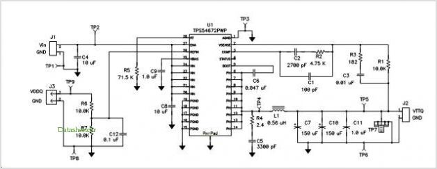 Electrical Schematic of Evaluation Module TPS54672