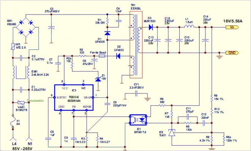 application notes and circuits for 100w 18v Smps Evaluation