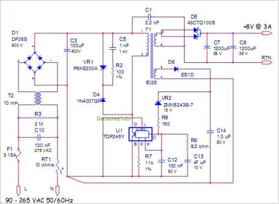 application notes and circuits for 24 w primary side regulated rh datasheetdir com