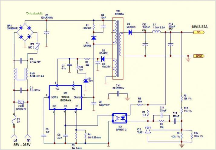 smps power supply schematic
