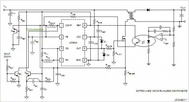 application notes and circuits for Comparing The Uc3842