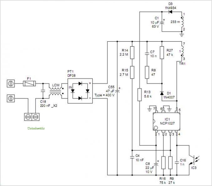 Dvd Power Supply Circuit Diagram 8 w Dvd Power Supply With