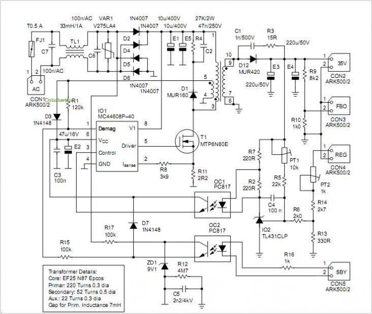 application notes and circuits for Mc44608 Smps Featuring Very Low ...