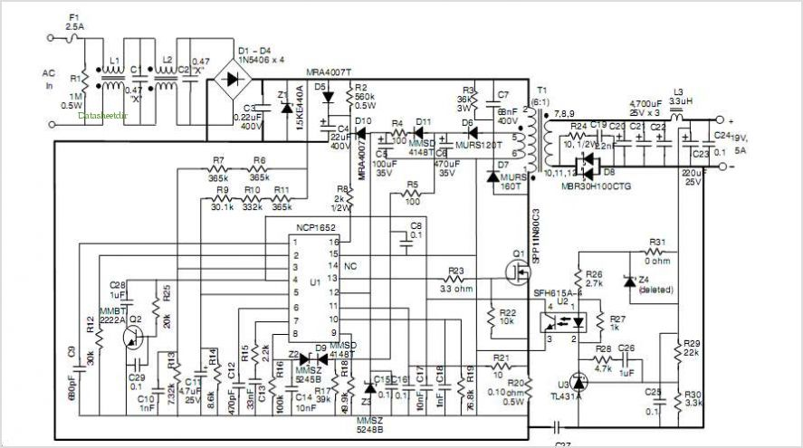 Single Stage Converter Schematic
