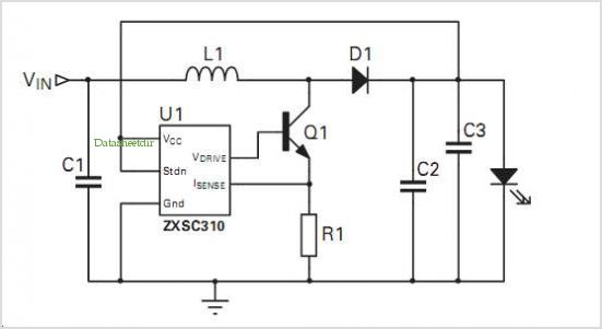 Zxsc310 Solar Powered Garden Light Reference Design application circuits