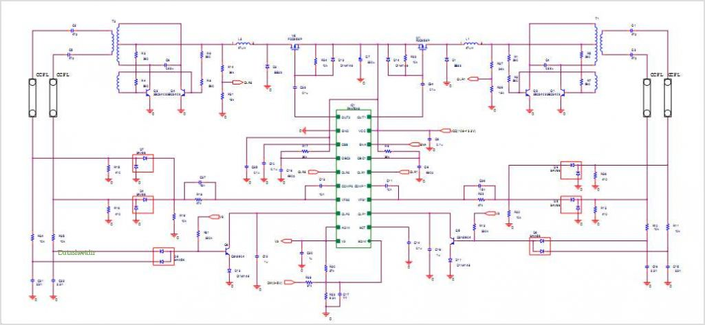 Application Notes And Circuits For Dual Lcd Backlight Inverter Drive Icrhdatasheetdir: Lcd Backlight Inverter Schematic At Gmaili.net