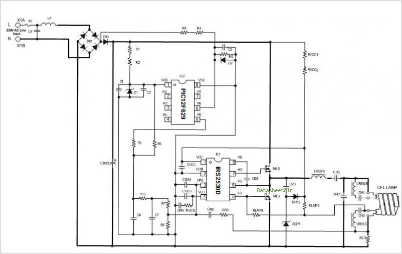 IRS2530D  Circuit Schematic