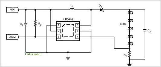 Lm3410x Led Driver 6-pin Llp Demo Board application circuits