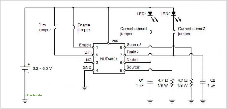Nud4301 Led Driver Demonstration Board application circuits