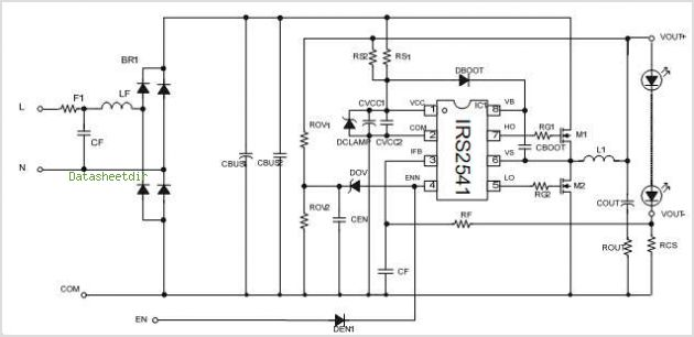 IRS2541 Circuits Using Two FETs