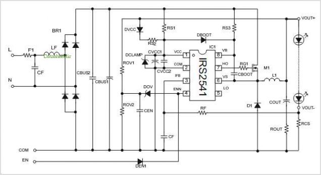 IRS2541 LED Driver Schematic