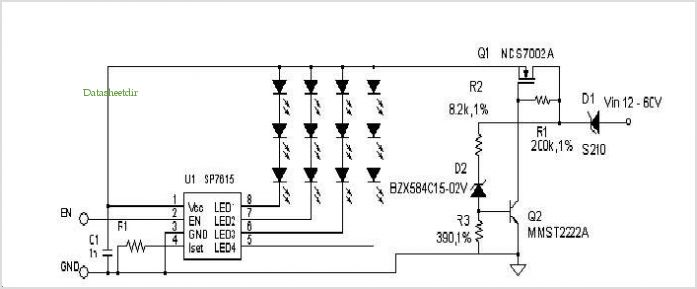 White Led Driver Over Voltage Protection application circuits
