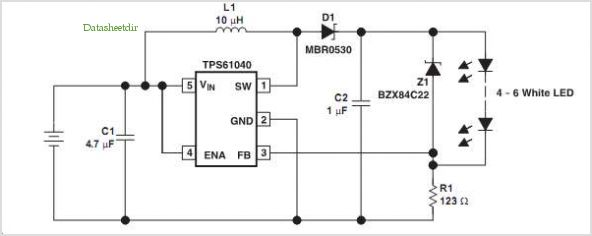 TPS61040 Constant Current LED Drive Supply