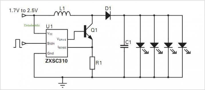 Zxsc310 Garden Light Reference Design application circuits