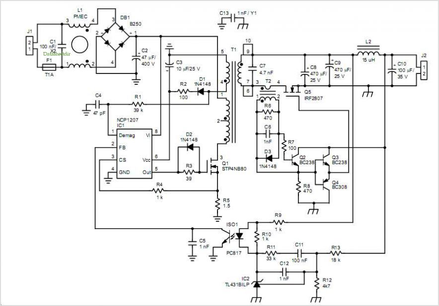 application notes and circuits for implementing ncp1207 in qr 24 w rh datasheetdir com