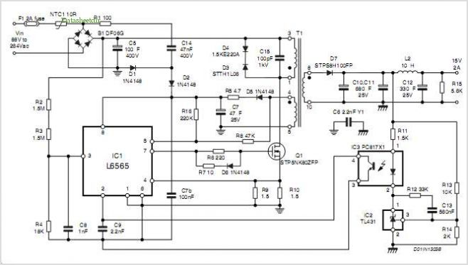 application notes and circuits for 30 W Ac-dc Adapter With