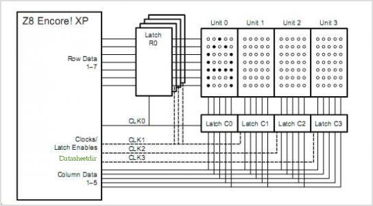 circuit for led display matrix