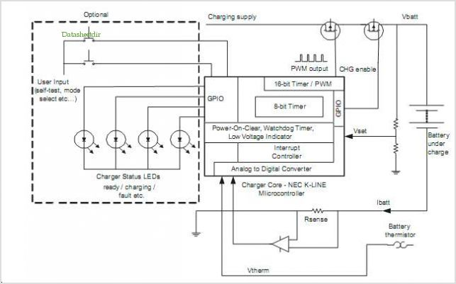 application notes and circuits for Battery Charging With The