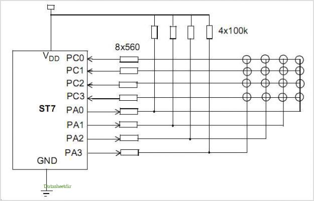 application notes and circuits for St7 Keypad Decoding