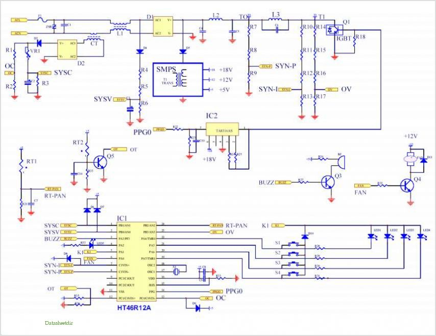 application notes and circuits for using the ht46r12a in an rh datasheetdir com