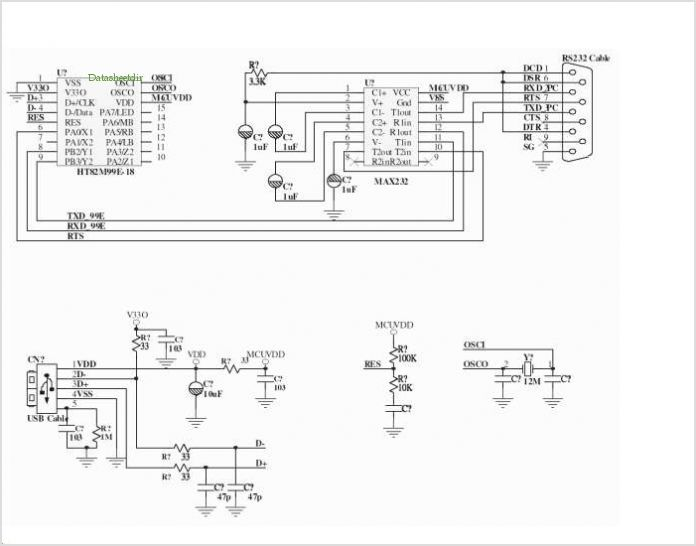 rs232 to usb converter schematic images
