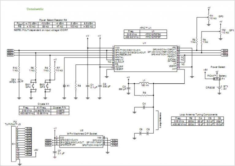 Rfpic12f675 Transmitter Module application circuits